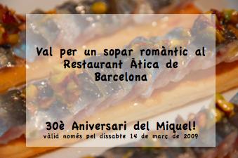 Restaurant Àtica (El Miquel ja té els 30!!)