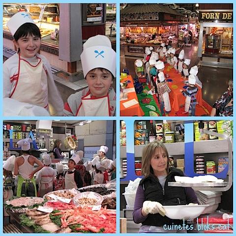 Esqueixada de bacallà (Taller de cuina per a nens i nenes al Mercat de la independència)