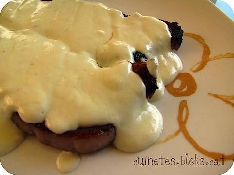 Llom de vedella amb salsa Roquefort