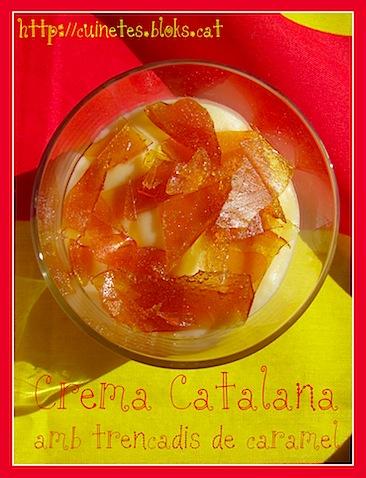 Crema Catalana (amb trencadís de caramel)