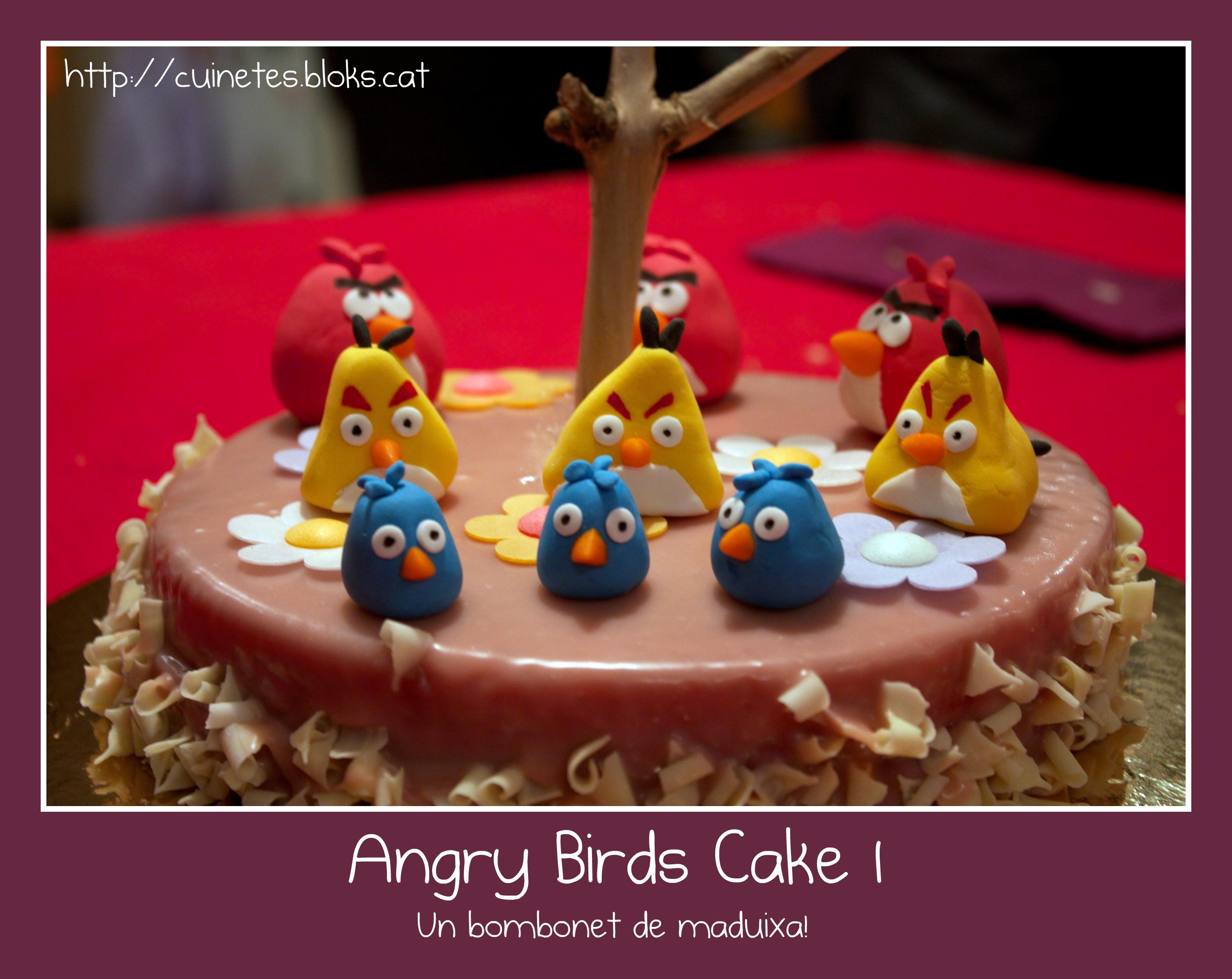 Angry Birds Cake I (un bombonet de maduixa!)