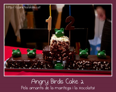 Angry Birds cake II (Amb la base del Madeira Sponge cake)