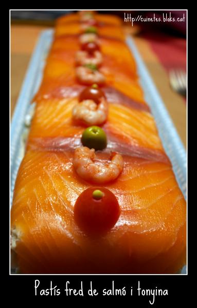 Pastís fred de salmó i tonyina