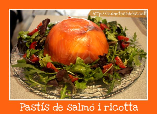 Pastís de salmó i ricotta