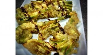 Carxofes del Prat en tempura