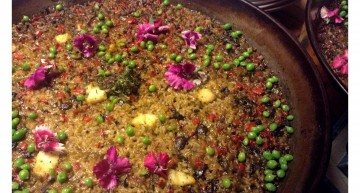 Arròs amb verduretes i bacallà