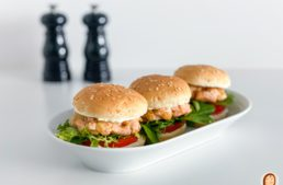 Mini hamburgueses de salmó